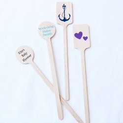 Personalized Baby Shower Stir Sticks
