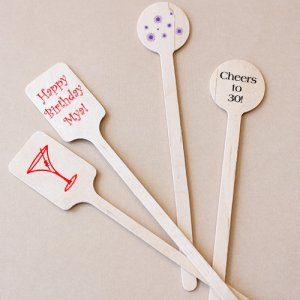 Personalized Birthday Stir Sticks