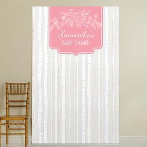 Personalized Baby Shower Photo Backdrop