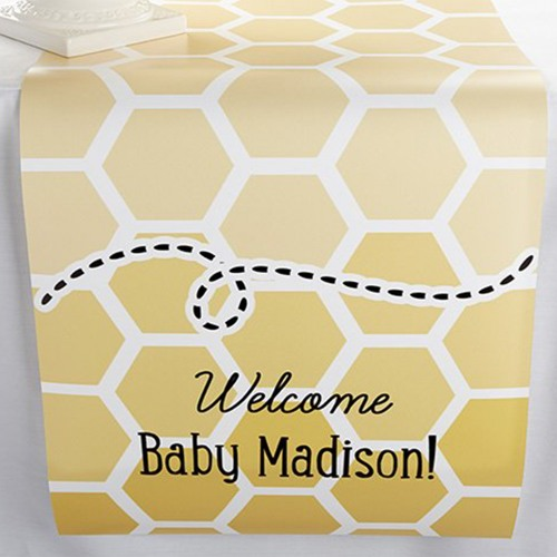 Personalized Bee Theme Table Runner