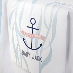 Personalized Baby Shower Table Runner