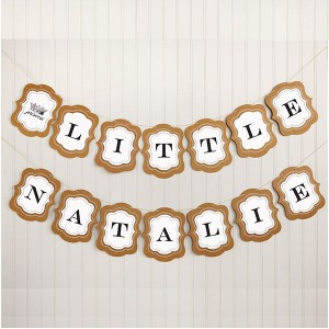 Personalized Baby Shower Themed Garland