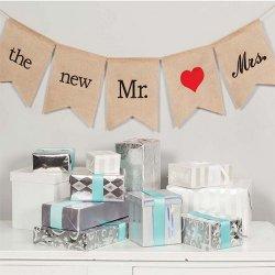 Bridal Burlap Banner