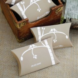 Personalized Love Birds Pillow Boxes