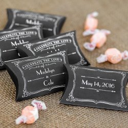 Personalized Chalkboard Pillow Boxes