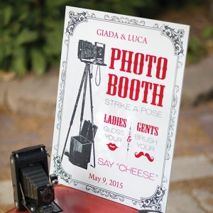 Personalized Vintage Photo Booth Sign