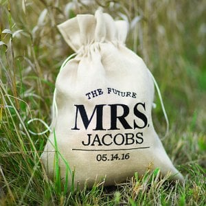 Personalized Future Mrs. Drawstring Bag
