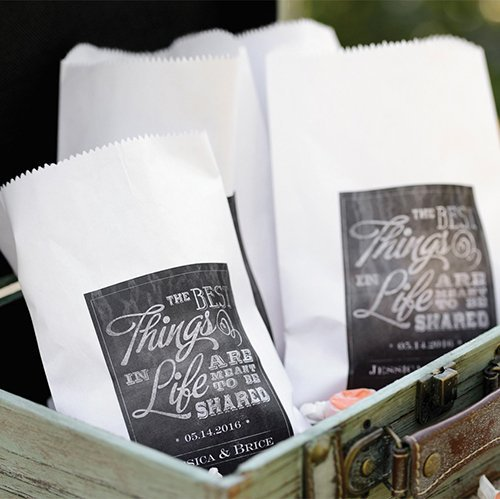 Personalized Chalkboard Treat Bags