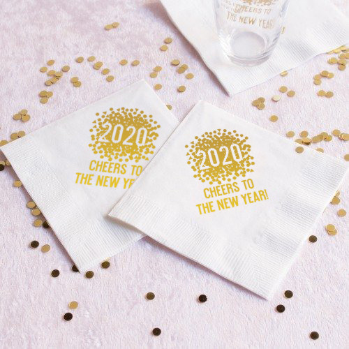 Personalized  New Years Holiday Napkins