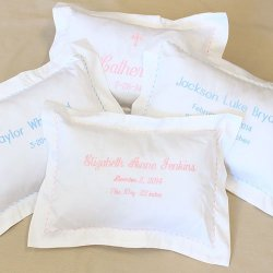 Personalized Scallop Pillowcase with Pillow