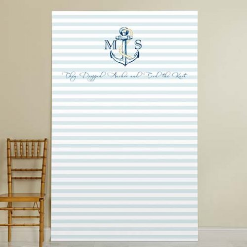 Personalized Bridal Anchor Photo Backdrop