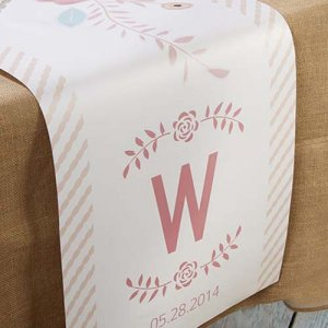 Personalized Bridal Table Runner