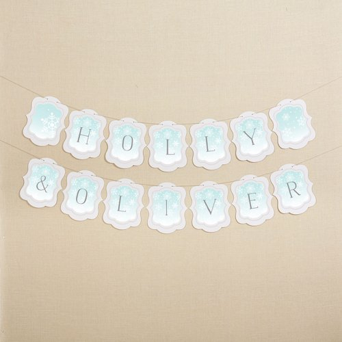 Personalized Snowflake Themed Garland