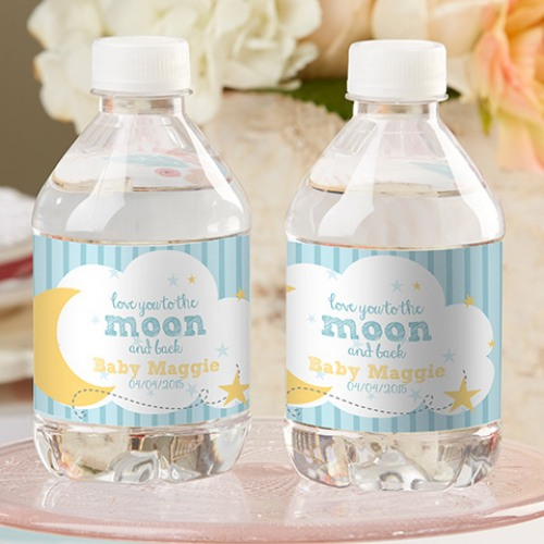 Personalized To The Moon Bottle Labels