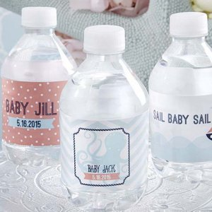 Personalized Baby Themed Water Bottle Label
