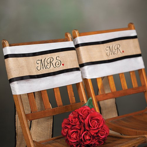 Mr. and Mrs. Chair Sashes