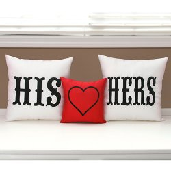 His and Hers Throw Pillow Set