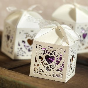 Die-Cut Heart Favor Boxes