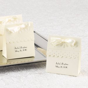 Personalized Scallop Favor Boxes