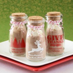 Personalized Printed Holiday Vintage Milk Jars