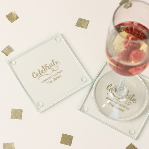Personalized Party Glass Coasters