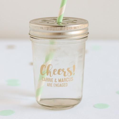 Personalized Printed Glass Mason Jar