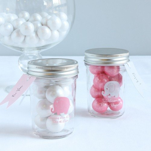Personalized Elephant Printed Mason Jars