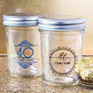 Personalized Birthday Printed Glass Mason Jar