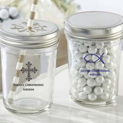 Personalized Religious Printed Glass Mason Jar