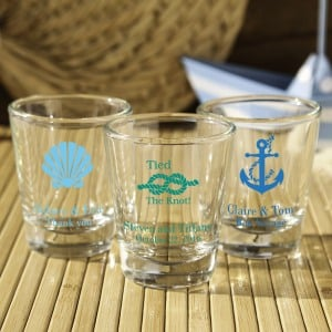 Personalized Bridal Shot Glasses