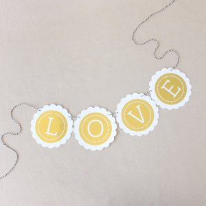 Personalized Wedding Metallic Foil Scallop Banner