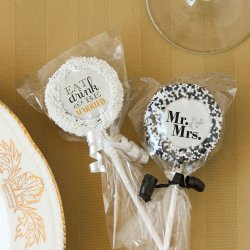 Custom Bridal Chocolate Covered Oreo Cookie Pop