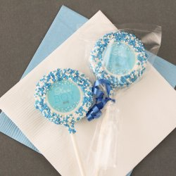 Custom Baby Shower Chocolate Covered Oreo Cookie Pop