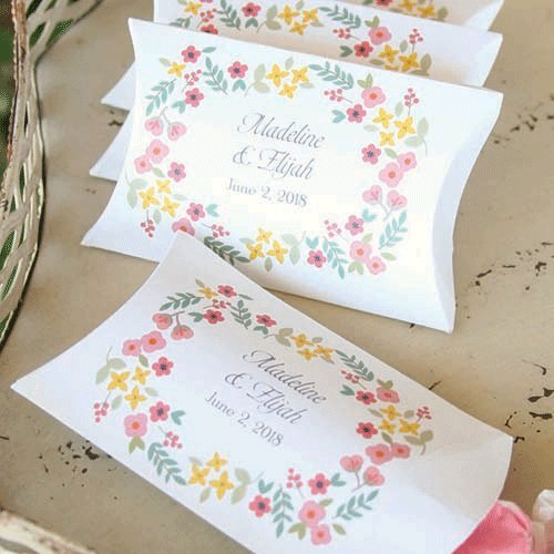 Personalized Vintage Floral Pillow Boxes