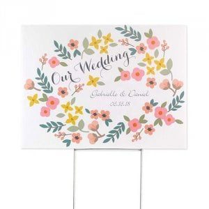 Personalized Vintage Floral Sign