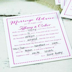 Personalized Marriage Advice Cards