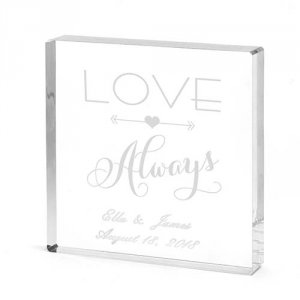 Personalized Love Always Cake Topper