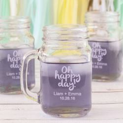 Personalized Printed Mason Jar Mug