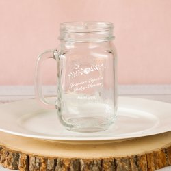 Personalized Baby Printed Mason Jar Mug