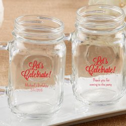 Personalized Party Printed Mason Jar Mug
