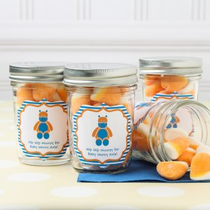 Personalized Baby Shower Themed Mason Jars