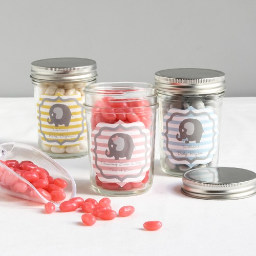 Personalized Elephant Mason Jars