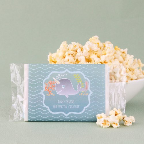 Personalized Baby Shower Themed Microwaveable Popcorn Bags