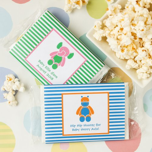 Personalized Baby Stripe Microwaveable Popcorn Bags