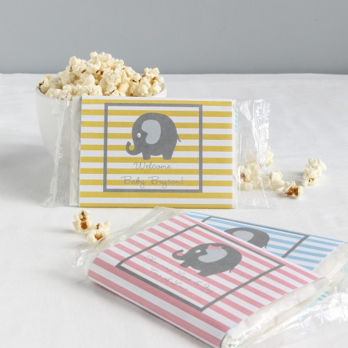 Personalized Elephant Popcorn Bag