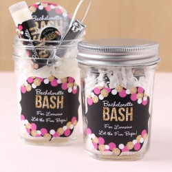 Personalized Wedding Themed Mason Jars