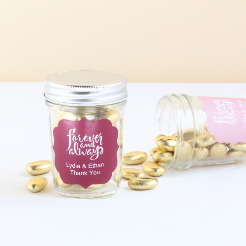 Personalized Love Laughter Themed Mason Jars