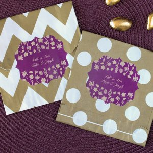 Personalized Wedding Themed Pattern Goodie Bags