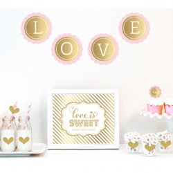 Gold & Glitter Wedding Decor Kit