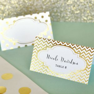 Metallic Foil Place Cards